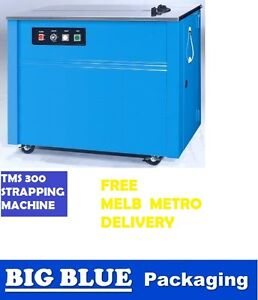 AUTOMATIC STRAPPING MACHINE for packaging packing boxes strap poly plastic semi