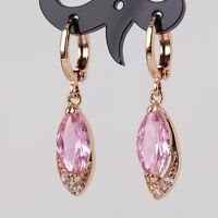 New fashion jewel ! Marquise 18k gold filled pink sapphire dangle earring
