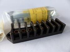 2x Klemmenleiste / Klemmleiste / 8-polige Klemme f. Röhrenverstärker, schwarz