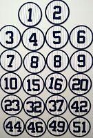 New York Yankees Fridge Magnets - Retired Jerseys - Jeter, Rivera, Ruth, Mantle