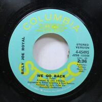 Country Promo Nm! 45 Billy Joe Royal - We Go Back / We Go Back On Columbia