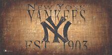 "New York Yankees Throwback Retro Heritage Est 1903 Wood Sign 12"" x 6"" Wall Decor"