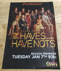 Tyler Perrys THE HAVES AND THE HAVE NOTS Ad  -  2014 Magazine Print Ad Clipping