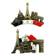 3D Metal Fridge Magnet Decoration Gift Paris Landmarks France Tourist Souvenir