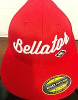BELLATOR MMA HAT Cap Flat Bill 210 FITTED Sewn FlexFit 6 7/8 - 7 1/4 - BRAND NEW