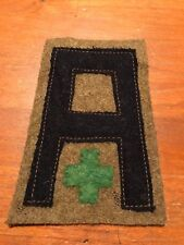 WWI US Army First Army Veterinary patch wool
