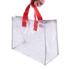 Women Girls Clear Handbag Beach Tote Shopping Purse Summer Shoulder Bag mo