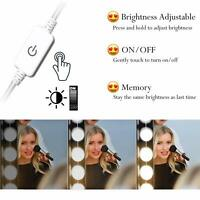 10 LED Touch Screen Makeup Mirror Lamp Tabletop Lighted Cosmetic Vanity Mirrors