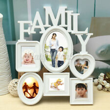 White Plastic Family Photo Frame Picture Holder Wall Hanging Display Home Decor