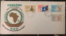 1975 Lesotho First Day Cover FDC Freedom Unity OAU  MXE