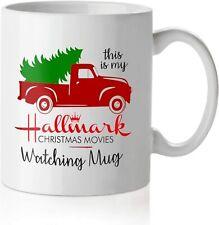 Hallmark Mug, Christmas Movie Watching Mug Red Pickup Truck 11oz Mug