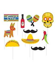 MEXICAN FIESTA SERAPE PHOTO BOOTH PROPS PARTY DECORATION CHILLIES DONKEY MASK