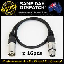 16x 0.5M 120 Ohms 3 Pin DMX XLR Lighting Cable Lead Cord Wire 0.5 Metre DMX-512