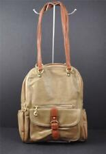 Stanford Style Backpack Laptop Quality Vegan Faux Leather Taupe Tan G4