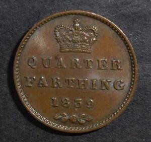 Good grade 1839 one quarter of a farthing
