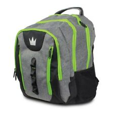 Brunswick Deluxe Touring Bowling Ball Company Back Pack Color Grey/Lime  NEW
