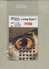 Fish Skull - Living Eyes - 4.0 mm - fire  quantity 20     FS-LE-F4