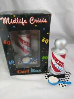 Midlife Crisis Curl Box Papel Giftware Gag Gift Hair Loss Humor Barber Shop