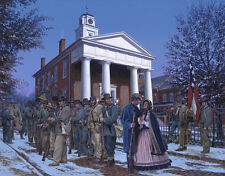 """The Christmas Gift"" by John Paul Strain Military L/E signed Civil War Print"