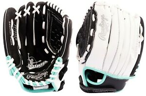 """Rawlings 10.5"""" Girls Fastpitch Softball Gloves Infield/Outfield, Left Hand Throw"""