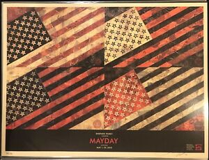 OBEY GIANT SHEPARD FAIREY MAY DAY FLAG Offset Print 18x24 Signed/Numbered 2010