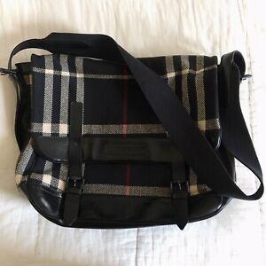 Authentic Mens Burberry Prorsum Messenger Check Bag