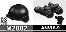 M2002+ANVIS-9 (W127+W185) Assault Helmet compatible with toy brick minifig SWAT
