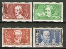 TIMBRES N° 330-333 OBLITERES - CALLOT - BERLIOZ - HUGO - PASTEUR SERIE COMPLETE