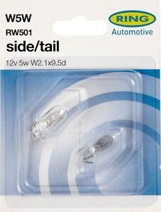 Front Side Light Bulbs - Pair W5W 12v 5w Ring High Quality (RW501) Honda