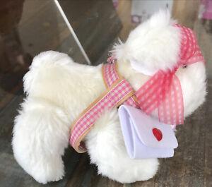 """Muffy Vanderbear's Dog ~ Lulu Macfluff in """"Candy Hearts """" Plush Dog"""