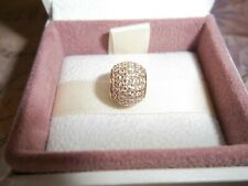 Genuine Authentic Pandora 14ct Gold Pave Lights Ball Charm 750819CZ - RRP £399