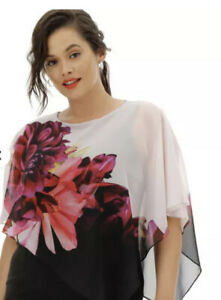 Coast Tina Overlay Black Dress Size 26 New