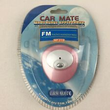 CAR MATE Mobile Phone FM Radio Handsfree Speaker Transmitter - Brand New, Pink