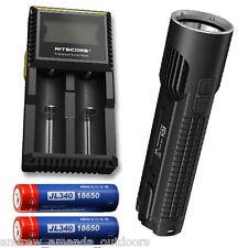 Nitecore EC4 1000 Lumen Flashlight w/2x Jetbeam 3400mAh Batteries & D2 Charger