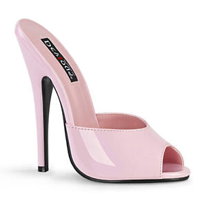 "Pleaser Devious 6"" Peep Toe Slide Adult Women Shoes Heels Domina/101"