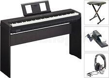 Yamaha P45 B Digital E-Piano mit L85 Holzgestell + Kopfhörer + Sitz Bank + Pedal