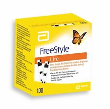 ABBOTT FREESTYLE STYLE LITE BLOOD SUGAR GLUCOSE 100 TEST STRIPS DAILY MONITORING