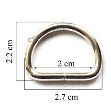4 Anneaux Mousquetons Sac A Main 32 mm Bandouliere Sangle Bague Laiton Cabas