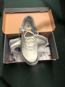 ECCO Biom Hybrid 3 Spikeless Men's Golf Shoes Size 40 White/Grey 6-6.5