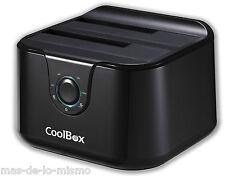 """Dock Station USB 3.0 CoolBox Base de Conexion y Duplicador Discos SATA 2.5""""/3.5"""""""