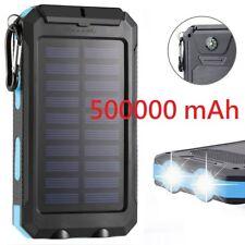 Waterproof 500000mAh 2 USB Portable Solar Battery Charger Solar Power Bank KB