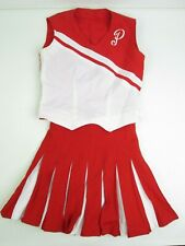 Vtg High School Cheerleader Uniform P Red Outfit Costume 36 Top 26 Pleated Skirt