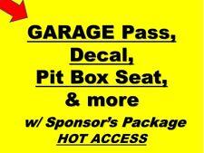 Talladega - NASCAR Team Sponsor- Hot Garage, Pits, Decal, Pit Box and more!