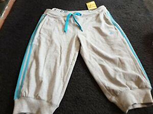 Ladies Adidas Grey Cotton Blend  Cropped/Capri Trousers/Pants Size UK 16(L)