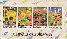 (SMS015) SINGAPORE 1989 Festivals of Singapore Children's Drawing Mini Sheet MNH