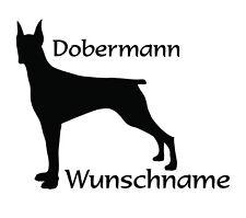 Aufkleber, Dobermann, Name, Wunschname, 30 cm,Fahrzeugaufkleber, Hund