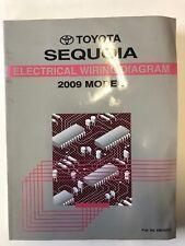 2009 toyota sequoia electrical wiring diagram manual ewd oem water 09