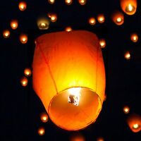 20/50 Paper Chinese Lanterns Sky Fly Candle Lamp for Wish Party Wedding