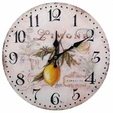 Decorative Fine Wooden Wall Clock (Limone)