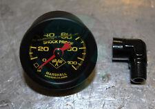 Marshall Liquid Filled Fuel Pressure Gauge with 90deg elbow 1/8npt Honda Acura